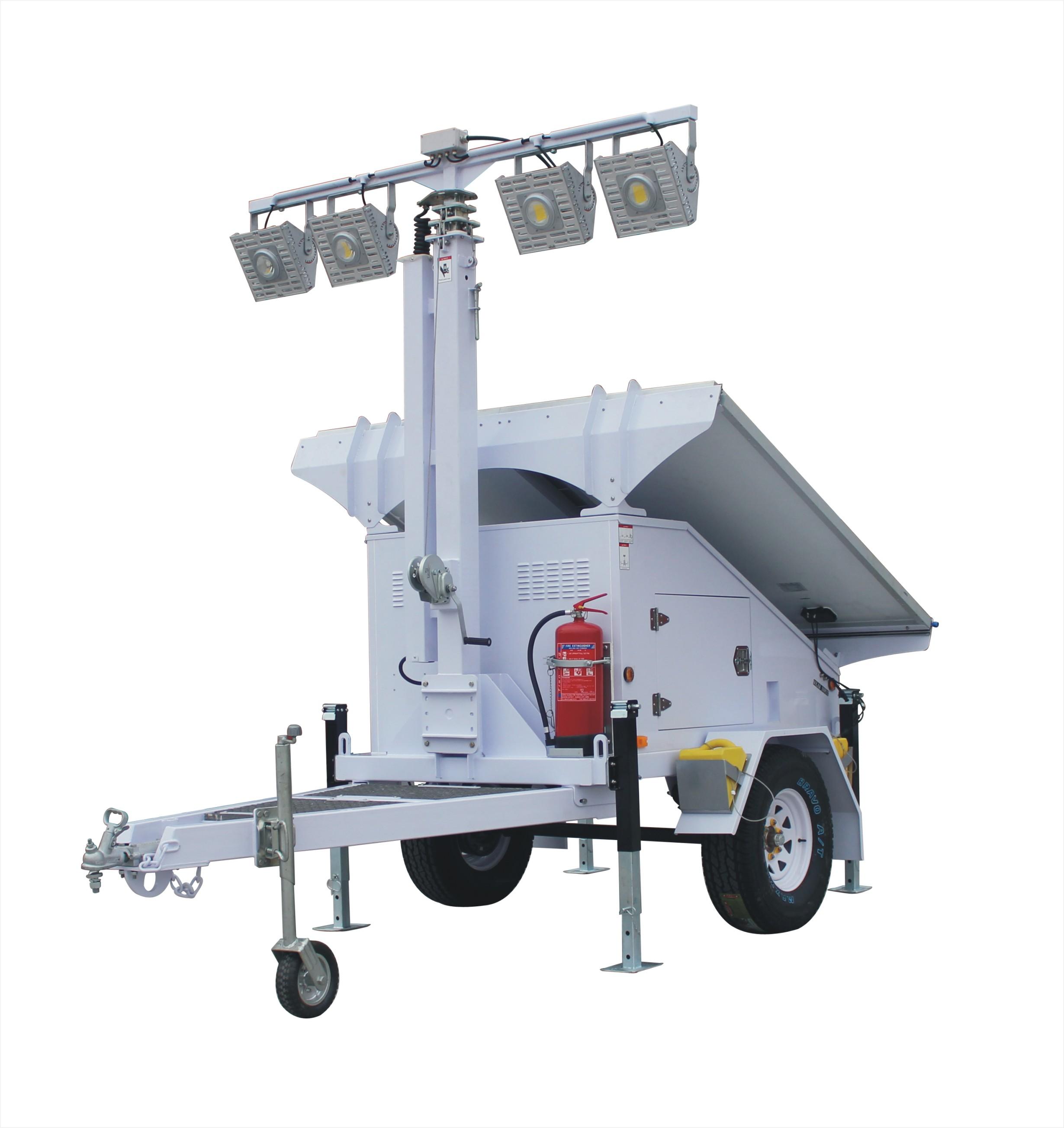 MO-4300-4 Ezitown Solar Battery Powered Led 8m Mast Mobile