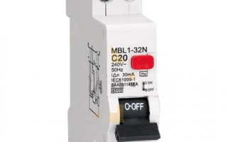 32A circuit breaker with overload protection