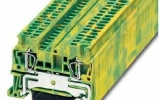 Earth/ground marking yellow/green color Spring terminal block