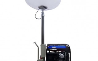MO-1200Q Trailer balloon mobile light tower 5m mast height 3.6kva related power 220 voltage 2x1000w metal halide lamp