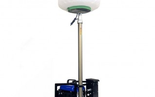 MO-400Q automatic lifting working Trailer lighting tower 400W Metal halide Lamp 5m mast height 220V rated voltage