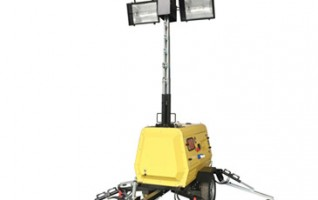 MO-520 automatic lifting working mobile Trailer lighting tower 6KVA Rated Power 10m Mast Height 4x1000W Metal halide Lamp
