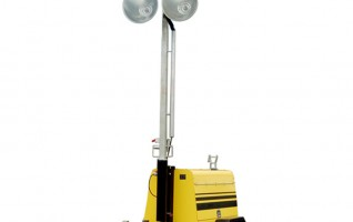 MO-5658 manual 9 meter mast Trailer mobile light tower diesel generator