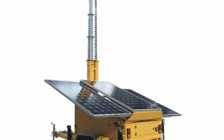 SV3190-2 Ezitown Solar led outdoor Power Light Tower 160w solar panel output 6.5m mast height