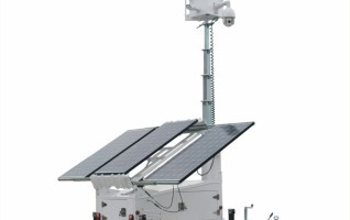 SV3300-4 Ezitown solar led mobile light tower trailer manual mast raise DC 12V battery mast height 6.5m 150AH battery capacity