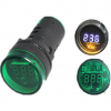 22mm 25mm digital Voltmeter Ammeter frequency indicator light