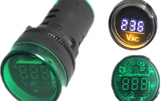 22mm digital Voltmeter Ammeter frequency indicator light