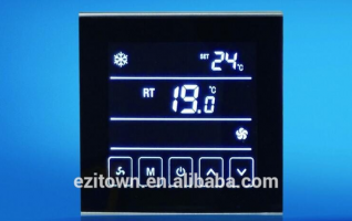 Ezitown DW-T901 black touch screen digital home automation thermostat