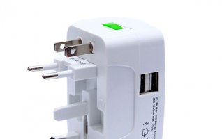 Ezitown portable universal travel adaptor with 2usb universal world wide travel charger adapter plug international power adapter