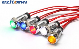 8mm anti vandal LED indicator 8FW-2 metal casing 23mm