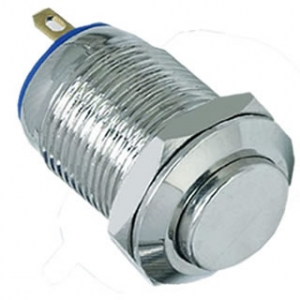 12mm 2A momentary 1NO high flush IP65 push button switch