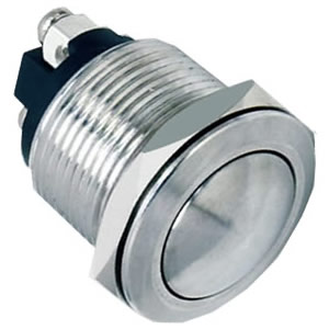 19-A2 19mm 3A silver alloy stainless steel push button switch