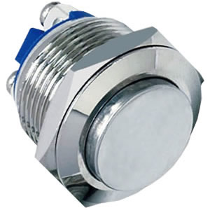 19-A6 19mm 3A high flush stainless steel push button switch
