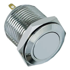 2A momentary 1NO flat IP67 push button switch