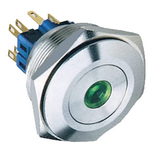 30mm 5A dot illuminated push button switch