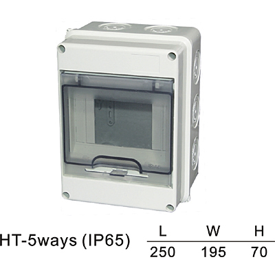 5-25 ways HT IP65 Plastic box HT series