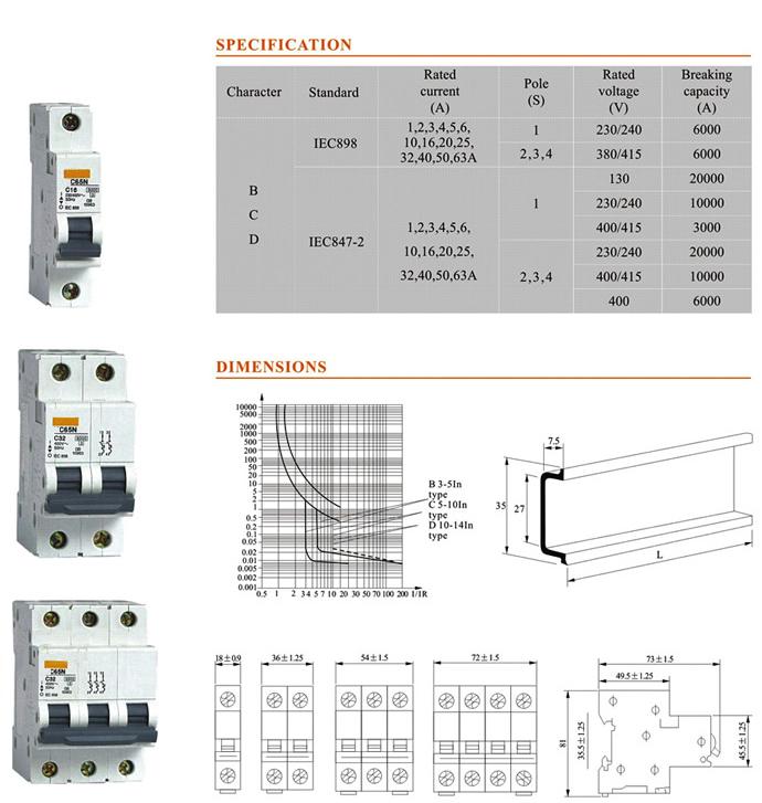 60-amp-breaker-mcb-specification - Distribution board,circuit ...