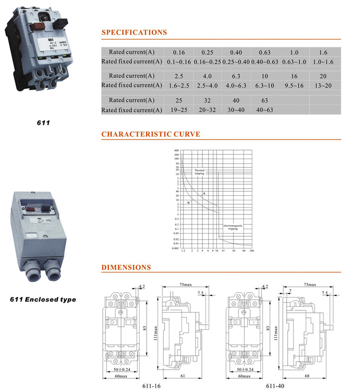 611-series-660v-63a-motor-protection-circuit-breaker