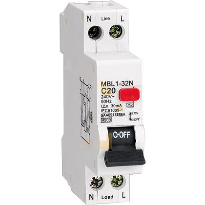 characteristic circuit breaker with overload protection