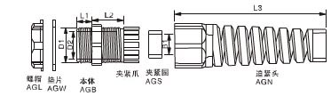 metric-thread-pg-cable-glands-with-strain-relief-specification