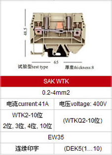test-type-screw-type-terminal-block-specification