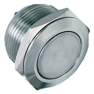 flat nickel plated push button switch