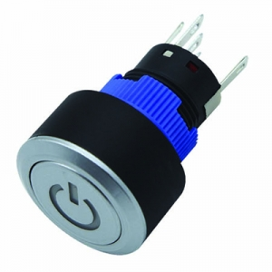 self-locking 2NO2NC flat IP65 push button switch