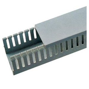 slotted Wire duct Grey color pvc fireproof cable trunking