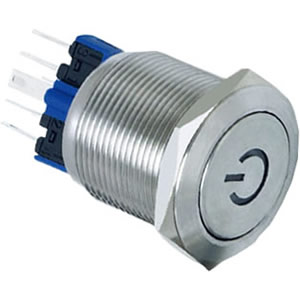 steel push button switch