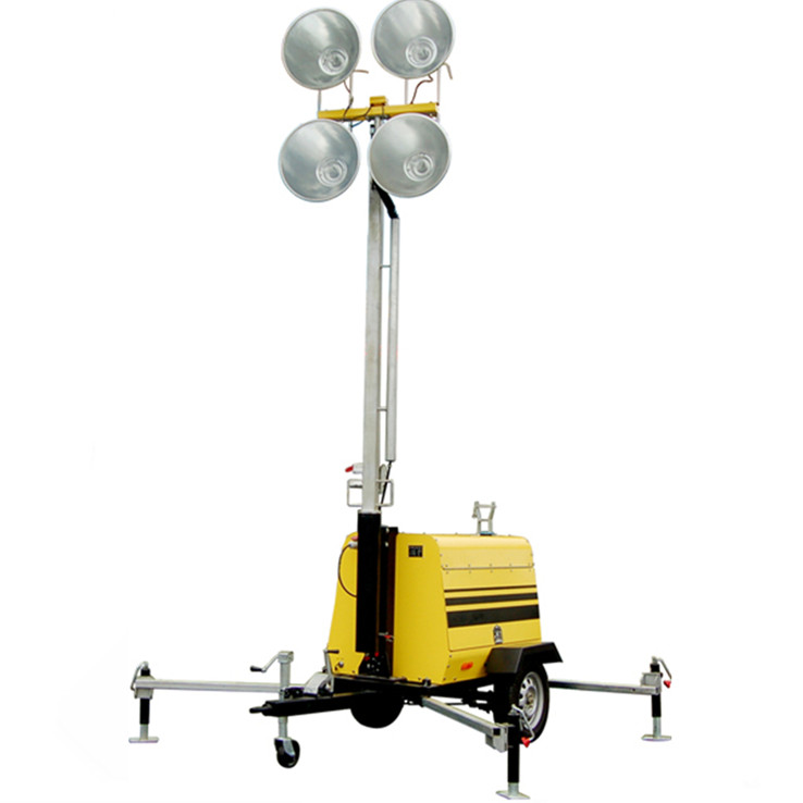 Light Tower Specifications: MO-5658 Manual 9 Meter Mast Trailer Mobile Light Tower