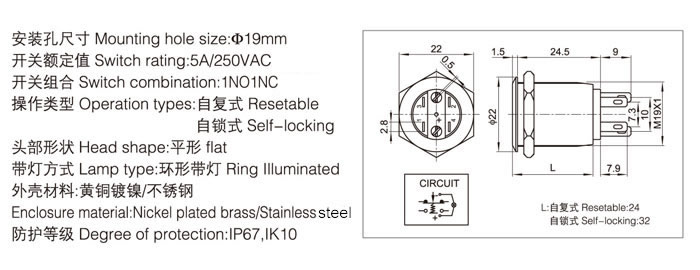 19-e1-push-button-switch-specification