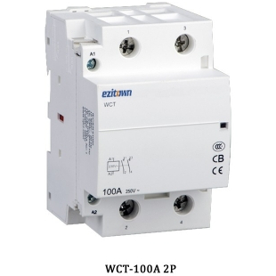 wct 100a magnetic contactor electric modular din rail mounting 220 to 110 Wiring Home AC Wiring Diagram