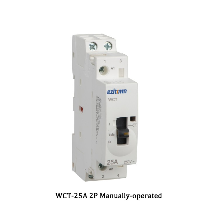 wct 25a ac household contactor mounting ac 2p 3p 4p ... iec contactor wiring diagram #13