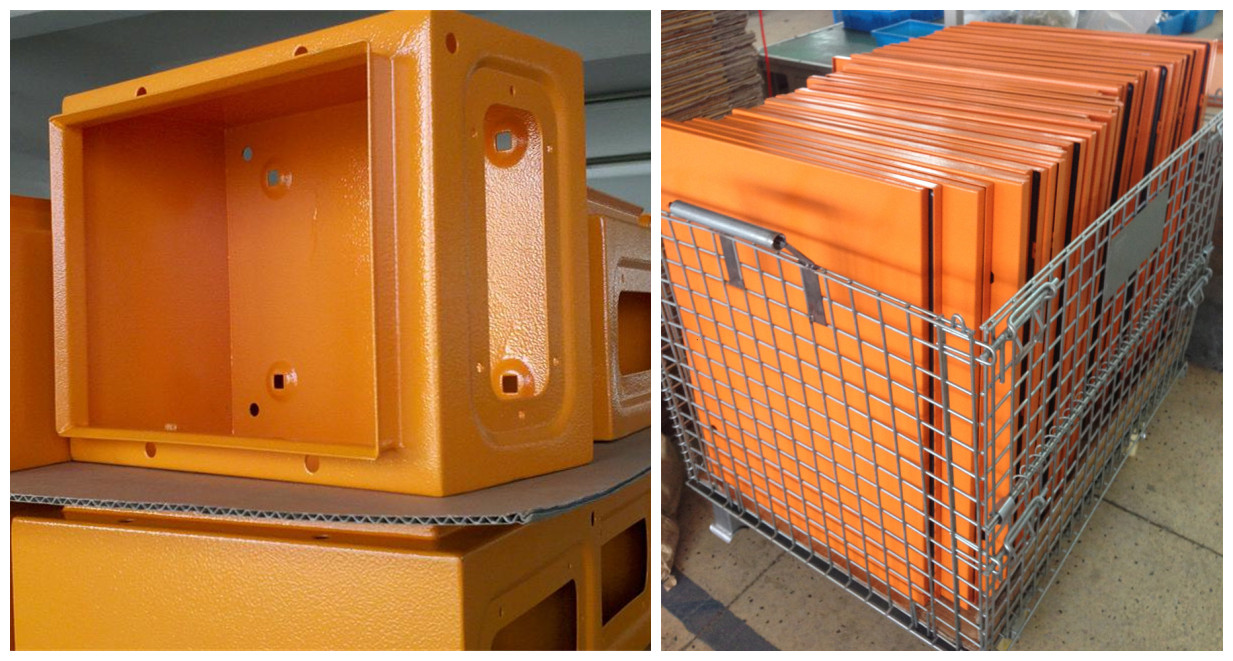 orange color metal enclosure