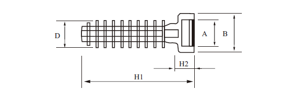 cable tie mounting nail size